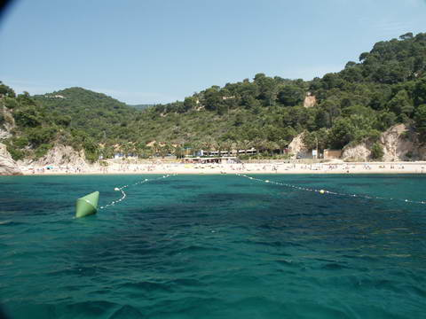Beach between Sant Feliu de Guixols and Tossa de Mar